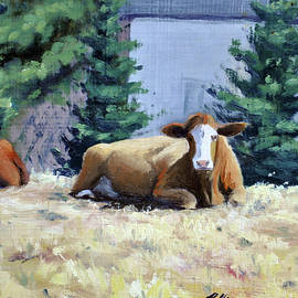 Two Scandia Cows by Rick Hansen