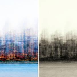 Two Skylines Impressionism Diptych by Joseph S Giacalone