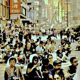 Umbrellas, #11 Hong Kong, The Beginning, Sepia treatment by Michael Martin