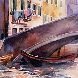 Under the Bridge, Venice, Italy by Susan Blackwood