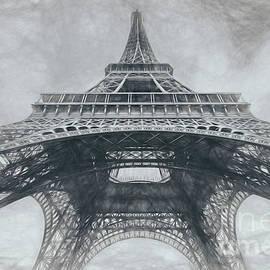 Under The Eiffel Tower, Grey Sketch by Liesl Walsh