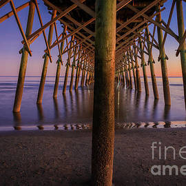 Under the Folly Beach Pier    by Inge Johnsson