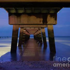 Under the Pier Coastal NIght Landscape Photograph by Melissa Fague