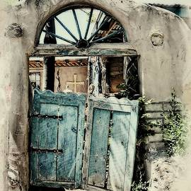 Unhinged Blue Door by Toni Abdnour