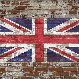 Union Flag on Brick by Enzwell Designs