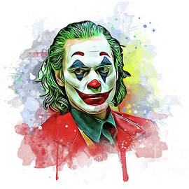 Unique Style Art of Joker Hollywood Movie by Vector Convert