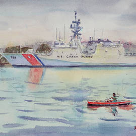 United States Coast Guard at Alameda Grand Marina California by Xueling Zou