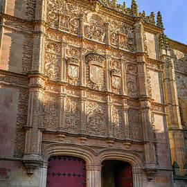 University of Salamanca Spain Entrance Facade by Joan Carroll