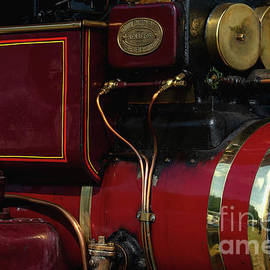 Up close to shining 1920 restored steam tractor built by Aveling and Porter at Strood, Kent, England by Terence Kerr