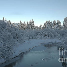 Upper Truckee River sunrise after the storm, El Dorado National Forest, California, U. S. A. by PROMedias Obray