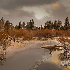 Upper Truckee River sunset, El Dorado National Forest, California, U. S. A. by PROMedias