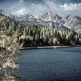 Upper Twin Lakes Fall Beauty - Retro by Lynn Bauer