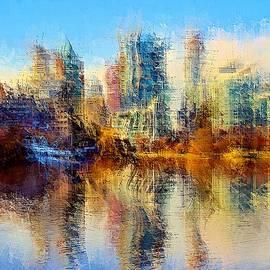 Urban Lake View by David Manlove