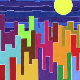 Urban Moon by Mary Walchuk