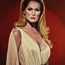Ursula Andress Painting 2 by Paul Meijering