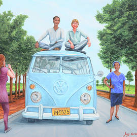 Us and the Kombi by Aicy Karbstein