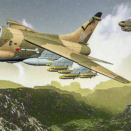 USAF 3rd TFS Man Eaters - Art by Tommy Anderson