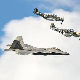 USAF Heritage Flight by Michael Crowder