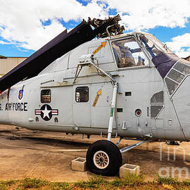 USAF Sikorsky HH-34J Choctaw Helicopter at Pearl Harbor by Phillip Espinasse