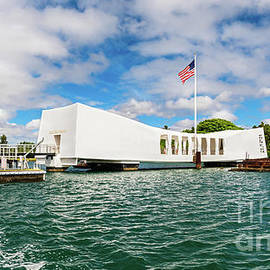 USS Arizona Memorial on a Bright Early Morning by Phillip Espinasse