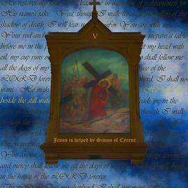 V Jesus Is Helped By Simon Of Cyrene by Joan Stratton