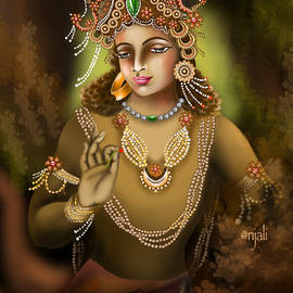 Vajrapani ancient Indian art by Anjali Swami