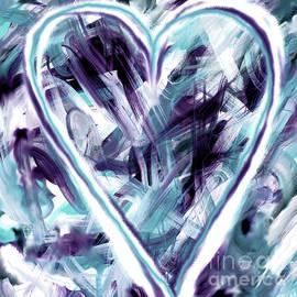 Valentine Heart Love Flow Blue by Marlene Rose Besso