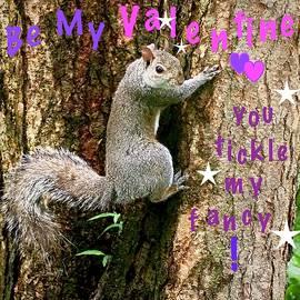 Valentine Squirrel by Alida M Haslett