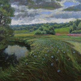 Variable Wind. Original Summer Oil Painting by Nikolay Dmitriev