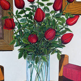 Vase with roses by Art Time Today