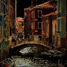 Metallic nocturnal Venice Italy by Rita Di Lalla