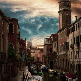 Along the canal in Venice Italy by Rita Di Lalla