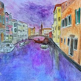 Venice at Dusk by Anne Sands
