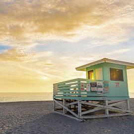 Venice Beach Lifeguard Stand Sunset by Jordan Hill