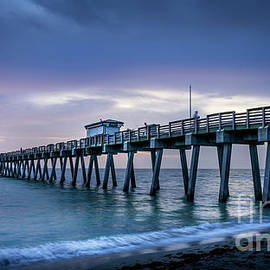Venice Fishing Pier, Florida at Blue Hour by Liesl Walsh