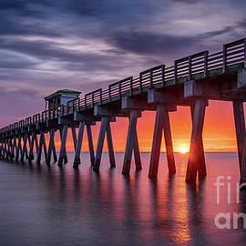 Venice Fishing Pier Sunset, Florida by Liesl Walsh