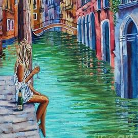 Venice Giclee Canvas Print Enchanting Original Artist Venice Art Colorful Venice by Yassine Ennajmi