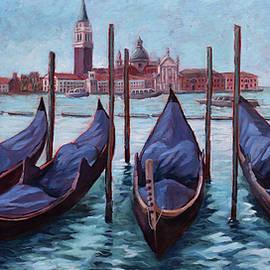 Venice Gondolas Iconic Image by David Dorrell