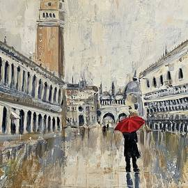 Venice in the Rain by Alan Lakin