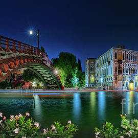 Venice panorama on Canal Grande by night by The P