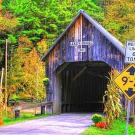 Vermont Covered Bridges - Larkin Covered Bridge No. 3A Over First Branch White River, Orange County by Michael Mazaika