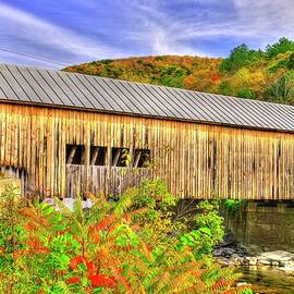 Vermont Covered Bridges - Mill Covered Bridge No. 2A Over First Branch White River, Orange County by Michael Mazaika