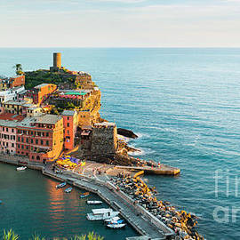 Vernazza Harbour by Justin Foulkes