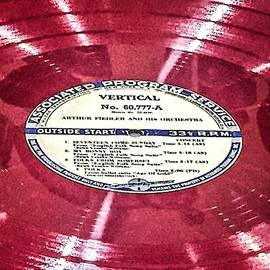 Red Vinyl Record  by Sage Photography