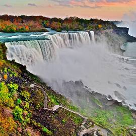 Verticle Niagara Falls by Frozen in Time Fine Art Photography