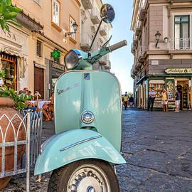 Vespa scooter parked in Amalfi, Campania, Italy by Stefano Politi Markovina