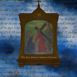 VI The Face Of Jesus Is Wiped By Veronica by Joan Stratton