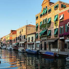 Vibrant Murano Island - Silky Afternoon on the Glassmakers Canal Rio dei Vetrai by Georgia Mizuleva