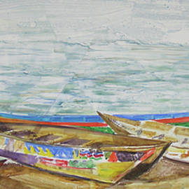 Victoria Lake Fishing Boats by RB Anderson