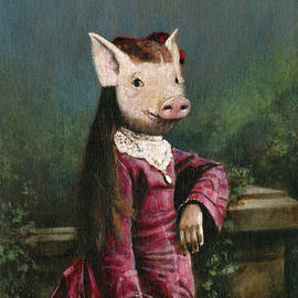 Victorian Piglet Girl by Michael Thomas
